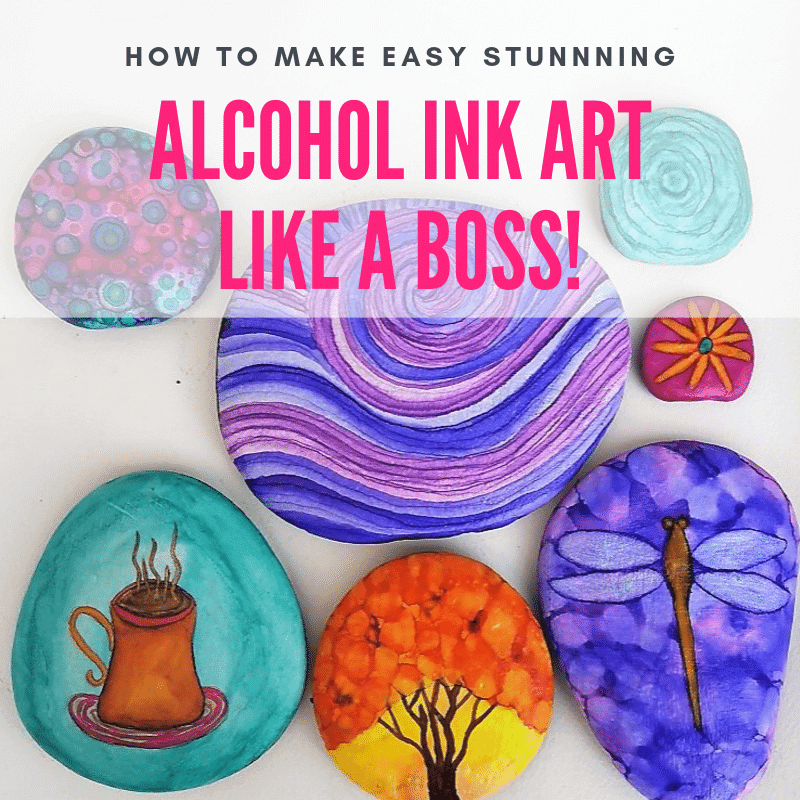 alcohol ink art like a boss