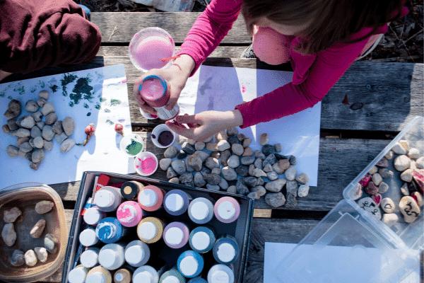 kids rock painting