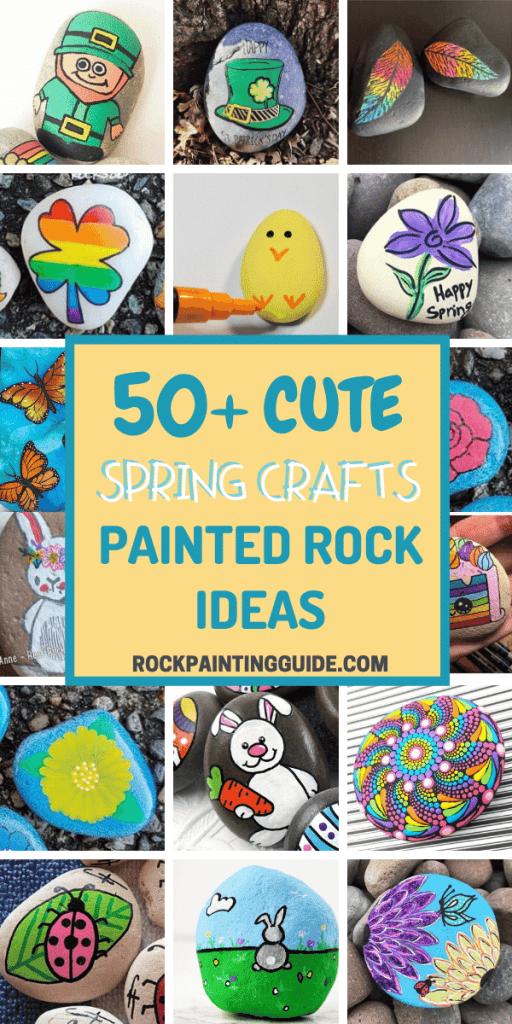 spring crafts painted rocks