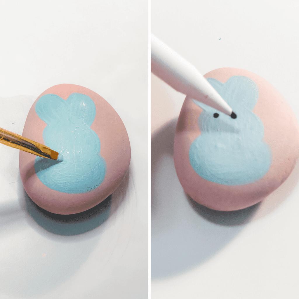 peeps bunny painting rocks