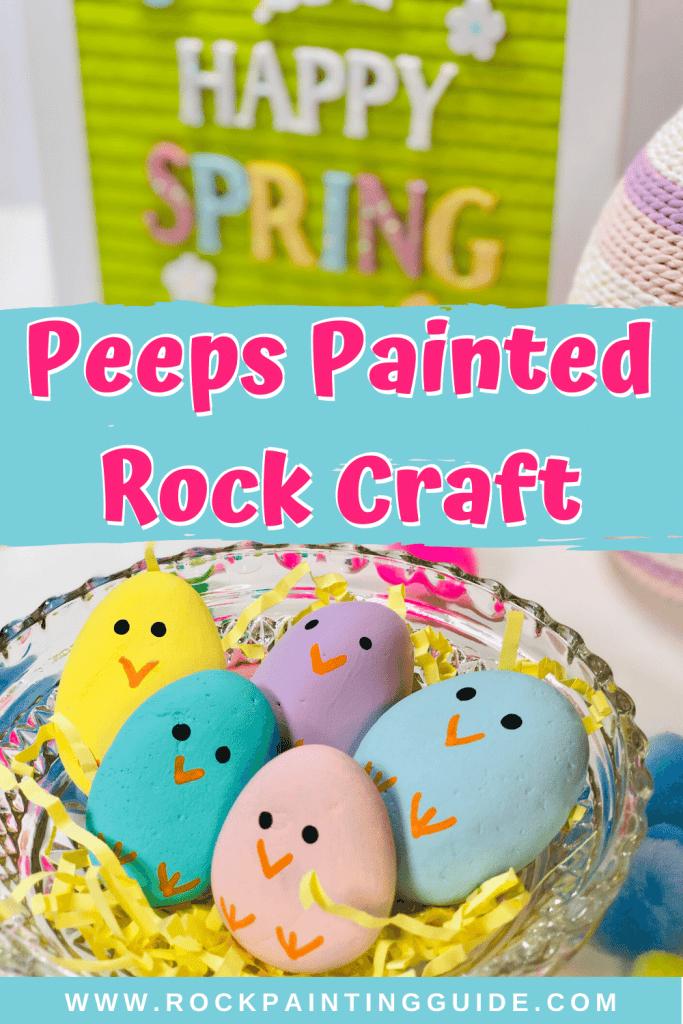 peeps painted rocks