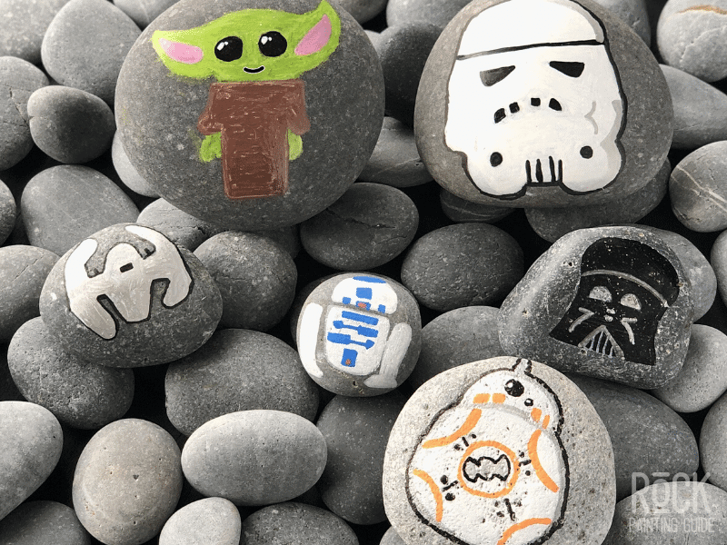 star wars craft painted rocks