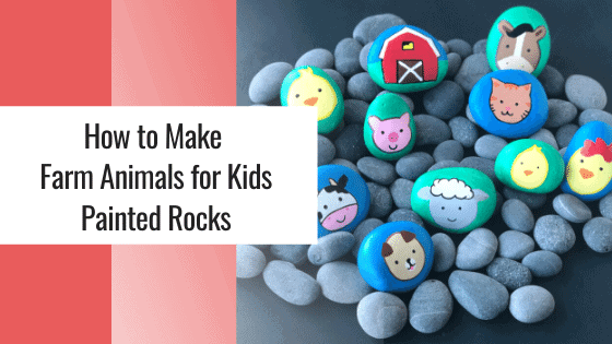 farm animals for kids painted rocks