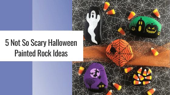 halloween painted rock ideas