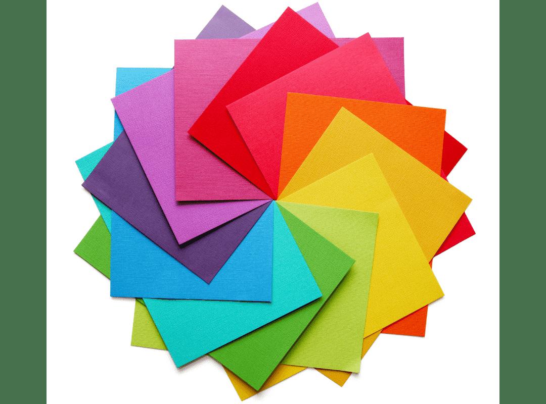 color wheel of cardstock