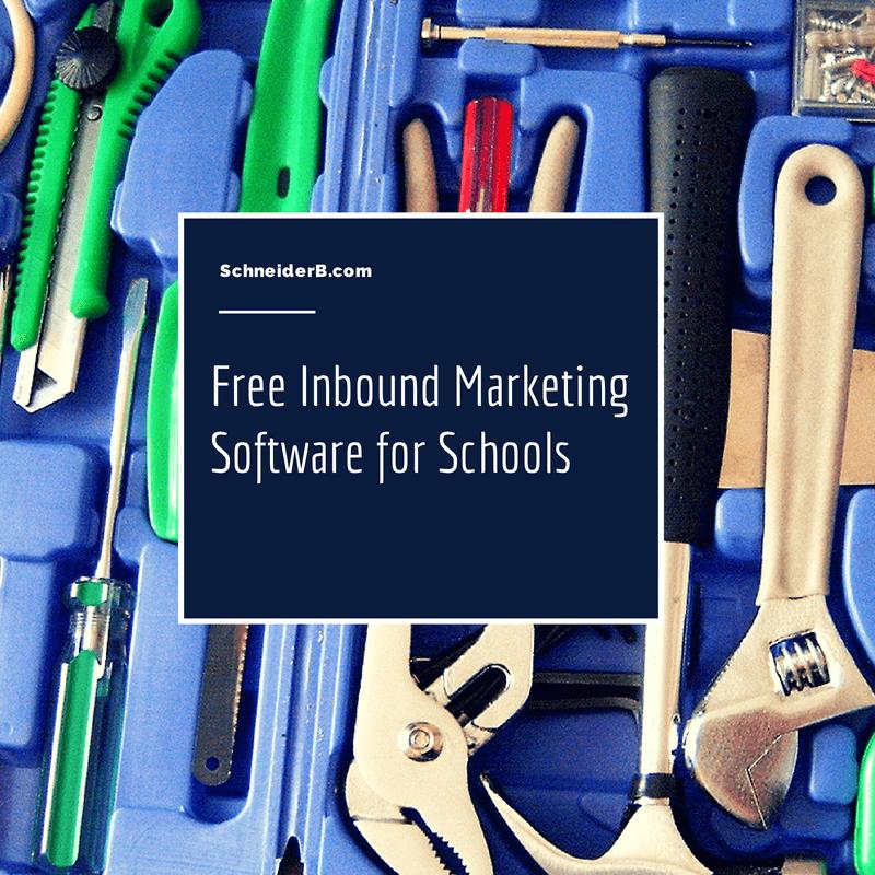 free inbound marketing software for schools