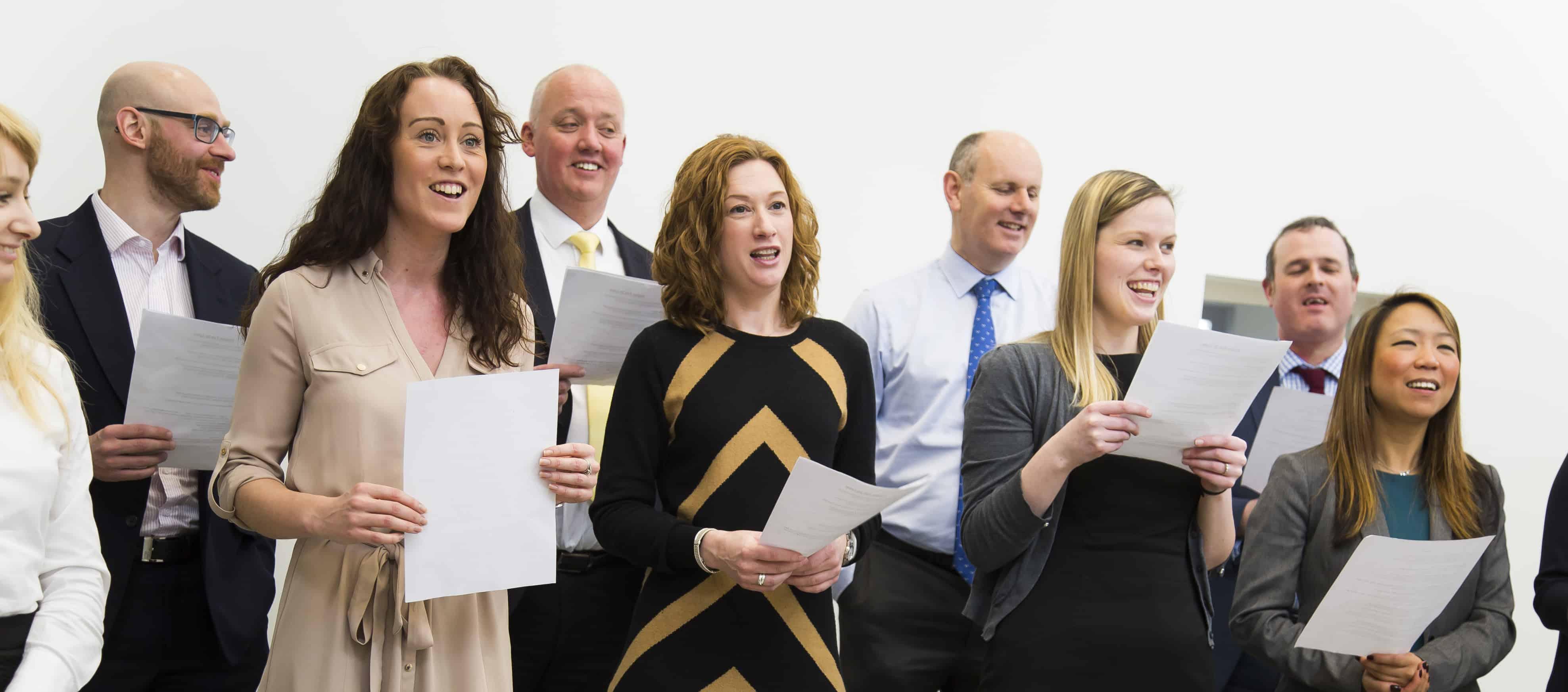 Wellington Place Workplace Choir singing