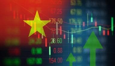 Vietnam stock market graph busines