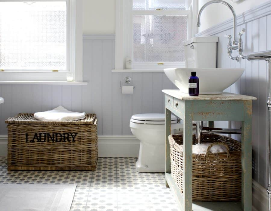 Image: Quirky on Trend Family Bathroom with Bespoke Cabinet