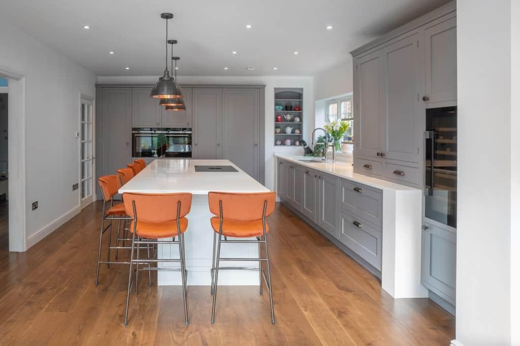 Painted Grey Kitchen