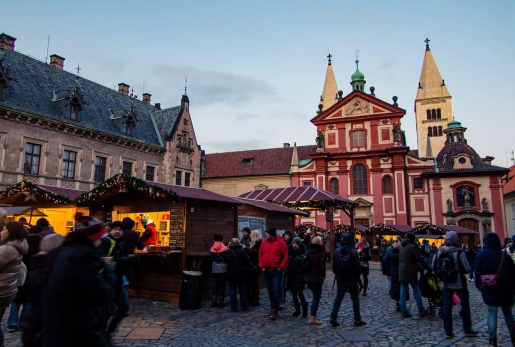 Winter in Prague Castle Christmas Market