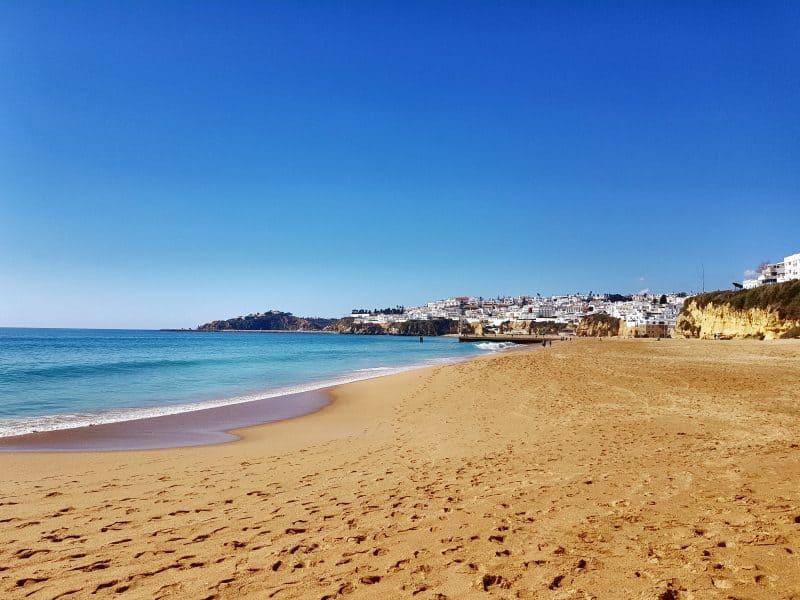 albufeira beach winter portugal - a winter sun destination
