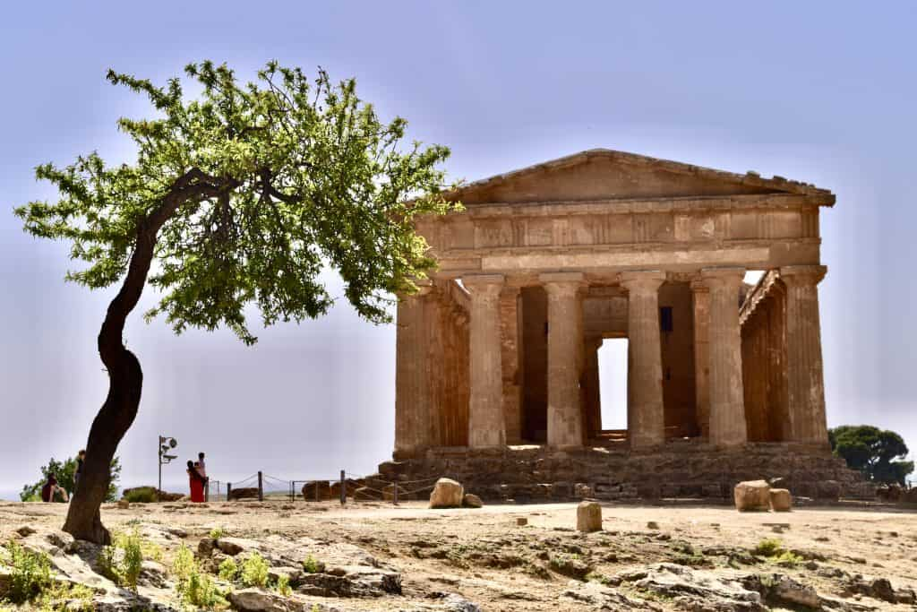 valley of the temples on a sicily road trip in europe