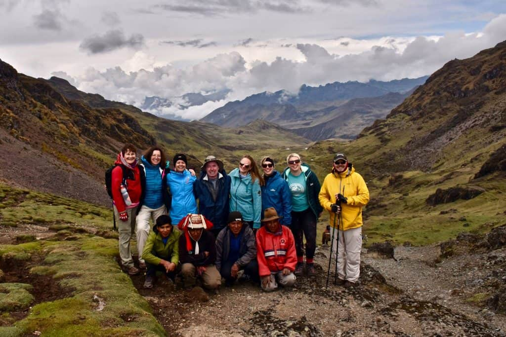 group travel for singles trekking the lares trail