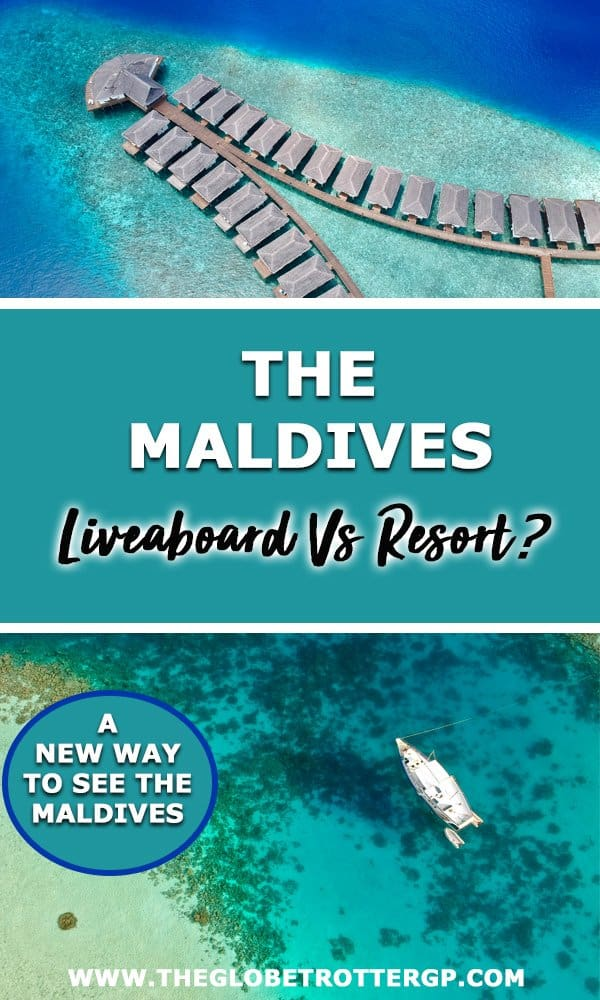 Should you stay in a luxury Maldives resort or on a Maldives liveaboard?! Sailing in the Maldives is a lot of fun, you see more places and it's a LOT cheaper! Plus you can snorkel and dive to your hearts content. Find out why you should switch the resort in the Maldives for a Maldives sailing trip!