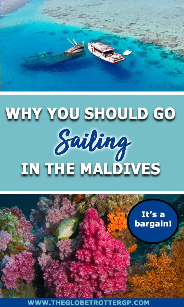 Should you stay in a luxury Maldives resort or on a Maldives liveaboard?! Sailing in the Maldives is a lot of fun, you see more places and it's a LOT cheaper! Plus you can snorkel and dive to your hearts content. Find out why you should switch the resort in the Maldives for a Maldives sailing holiday!