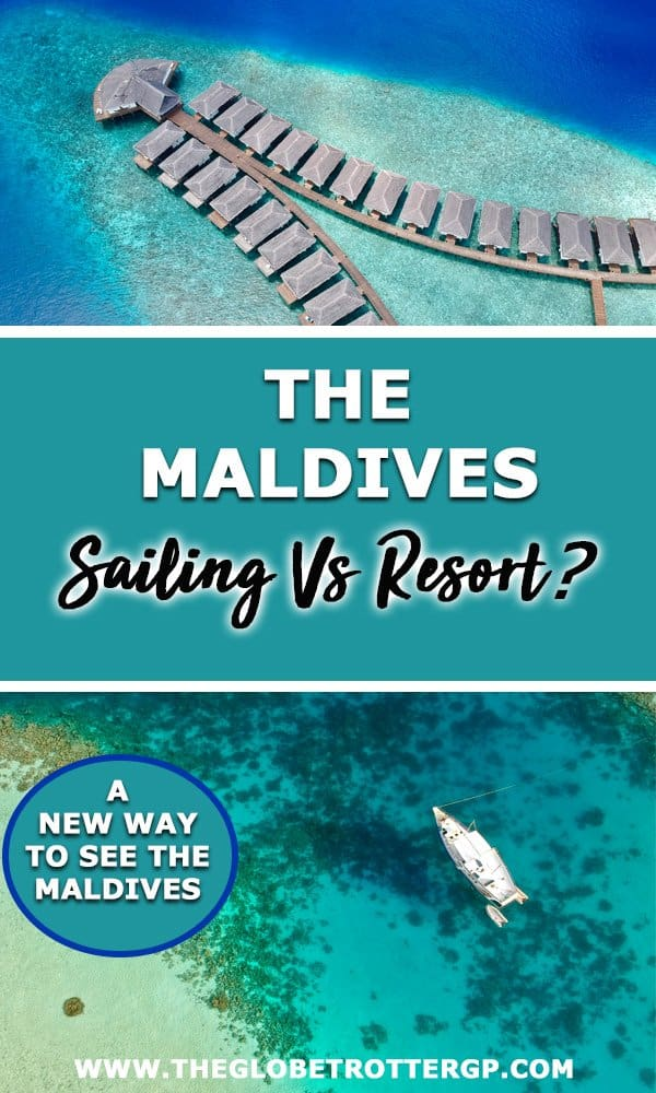 Should you stay in a luxury Maldives resort or on a Maldives liveaboard?! Sailing in the Maldives is a lot of fun, you see more places and it's a LOT cheaper! Plus you can snorkel and dive to your hearts content. Find out why you should switch the resort in the Maldives for a Maldives sailing vacation!