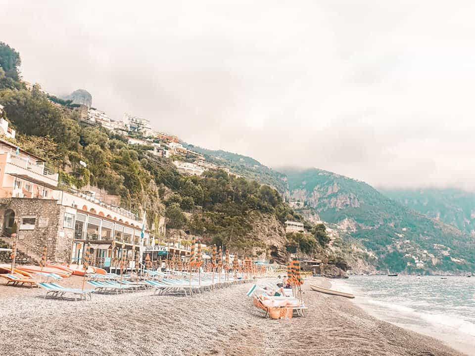 fornillo beach in positano amalfi coast