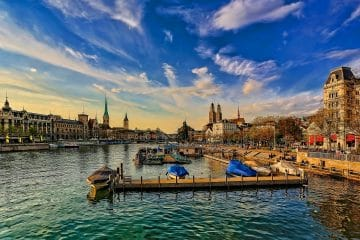 zurich on a sunny day in winter