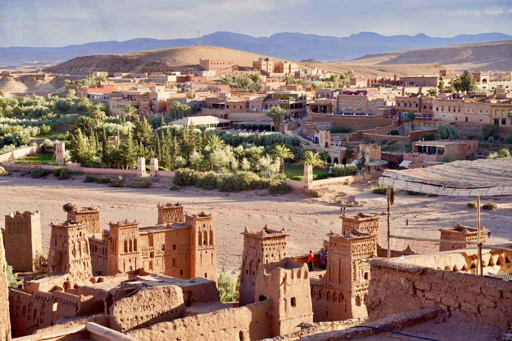 ben at haddou unesco world heritage kasbah view from above