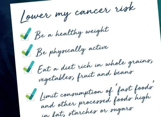 Top 10 Tips to Cut Your Cancer Risk
