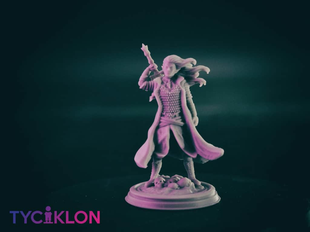 selador black guard dark elf 3d printable tabletop miniature photograph