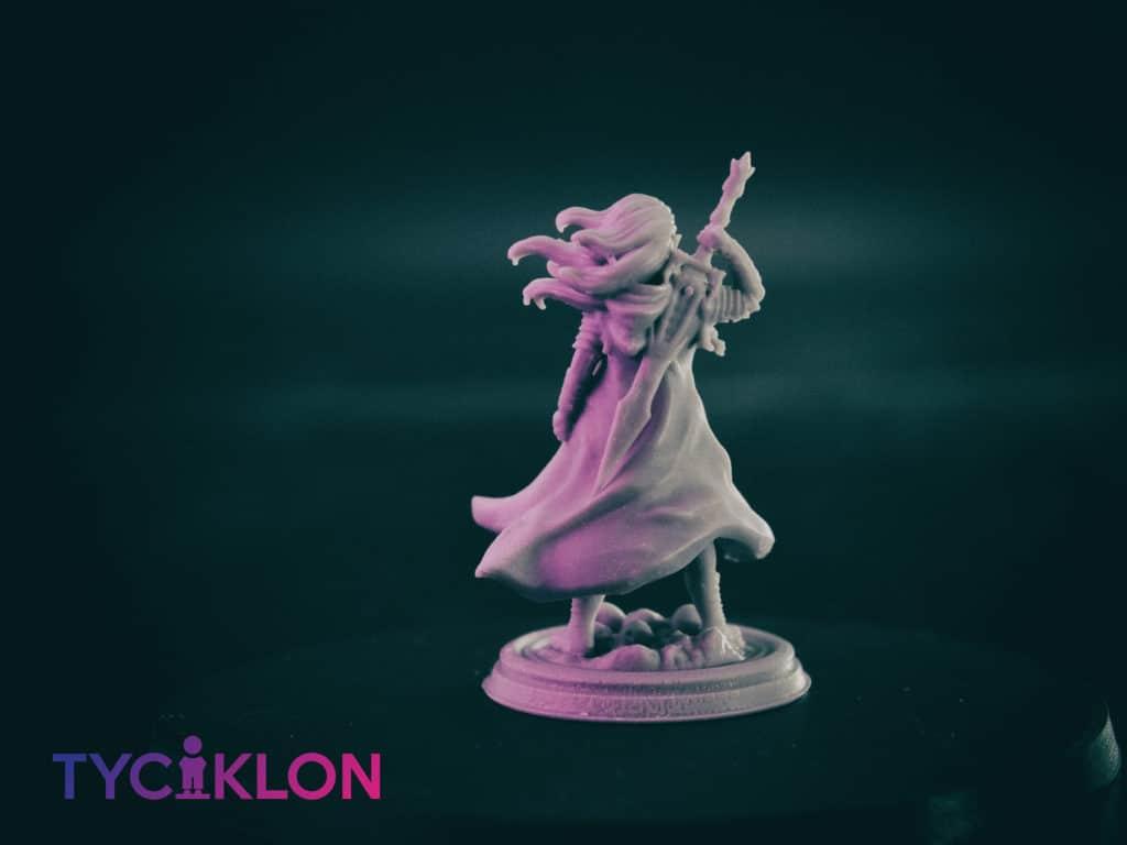 selador black guard dark elf 3d printable tabletop miniature photograph