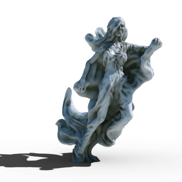 ghost woman spectre lady 3d printable tabletop miniature