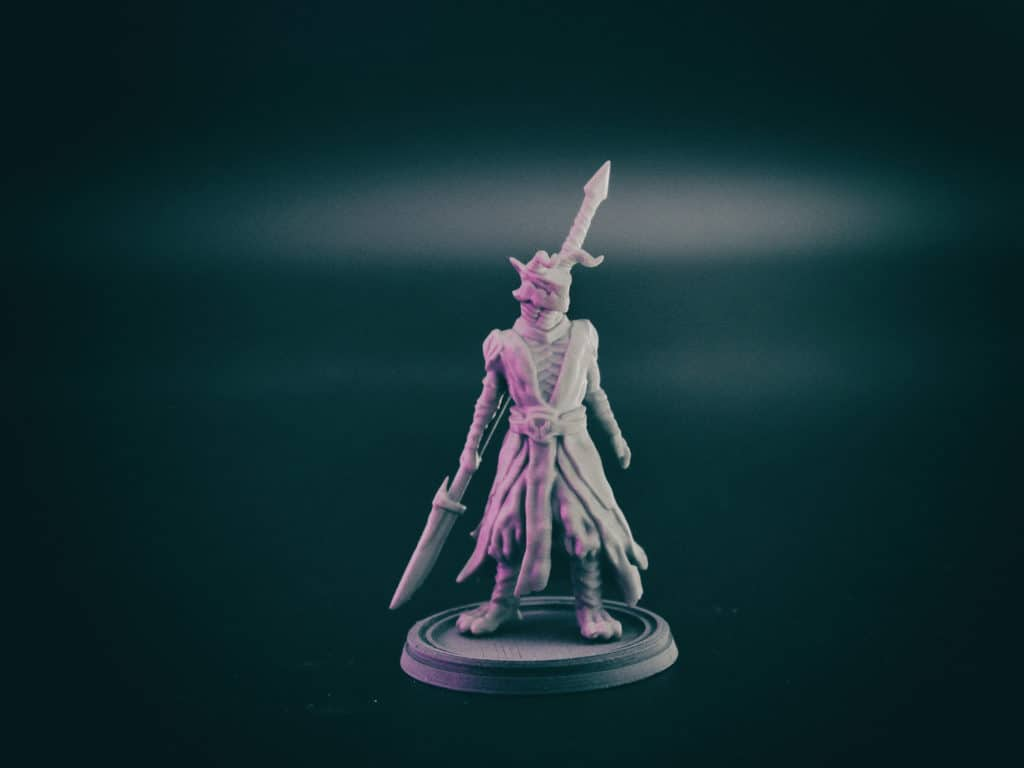 dragonborn fighter with glaive 3d printable tabletop miniature photograph