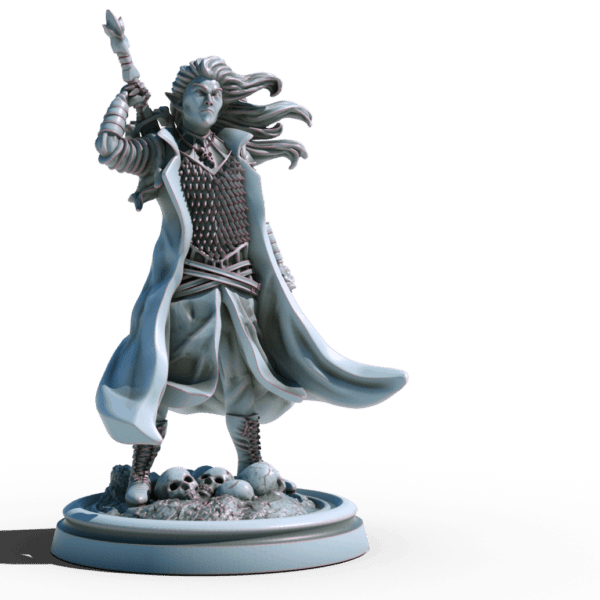 selador black guard dark elf 3d printable tabletop miniature