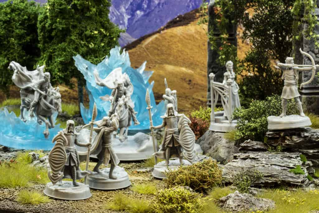 chapter 4 the printing goes ever on high elves on grass and ruins diorama 3d printable miniatures
