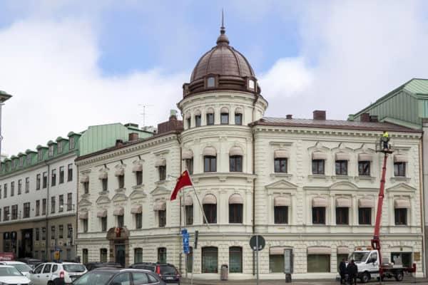 Kinesiska konsulatets fasad i Göteborg