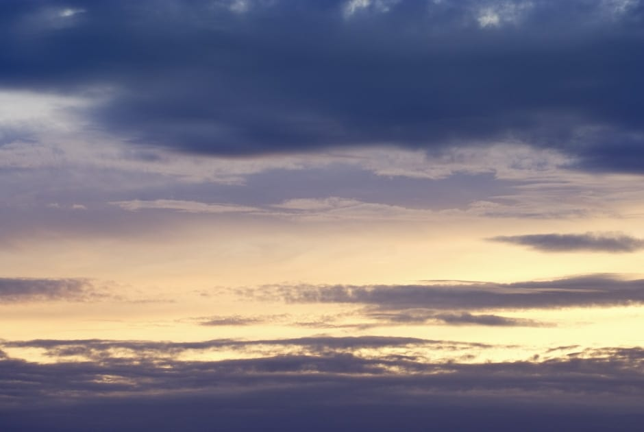 Evening sky over norfolk,england,uk