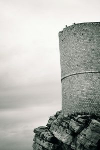 Dubrivnik City wall. Converted to black and white. Vroatia