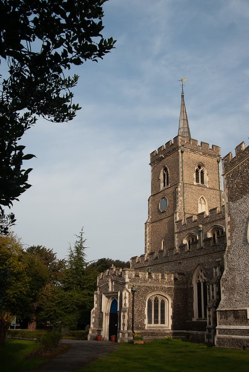 Church in Ware, Hertfordshire, UK