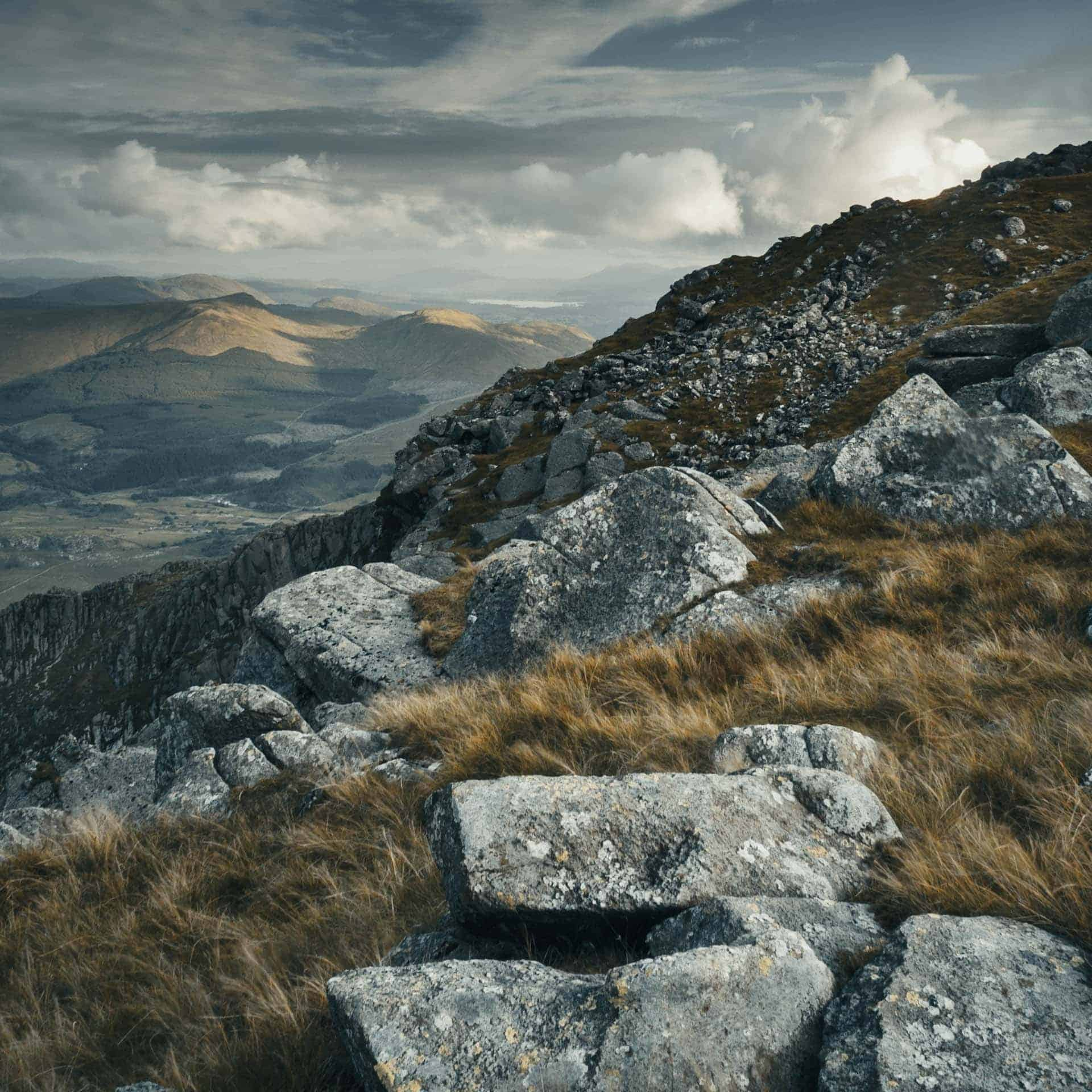 Welsh mountains, photographs from Instagram with atmospheric filter added.