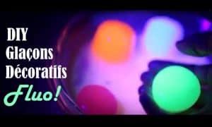 glaçons fluorescents