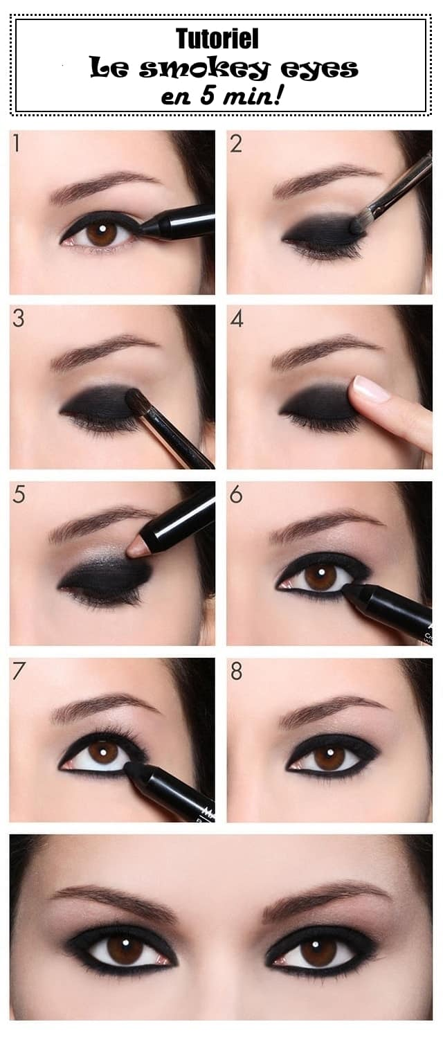 smokey eyes en cinq minutes