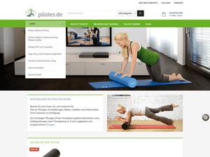 Startseite neuer Magento Shop pilates.de