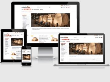responsive Webdesign Fässer-Shop