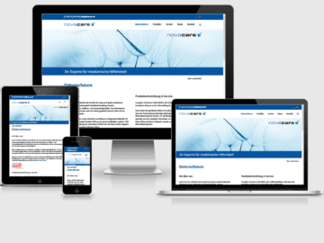 responsive Webdesign novacare GmbH