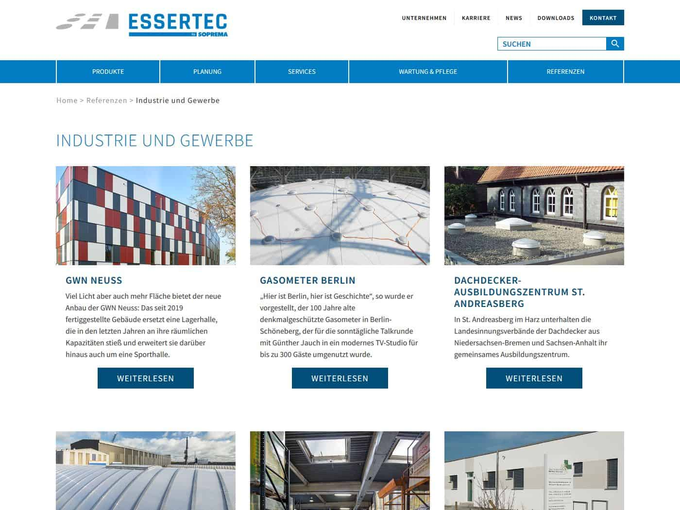 responsive Webdesign ESSERTEC GmbH, Referenzen