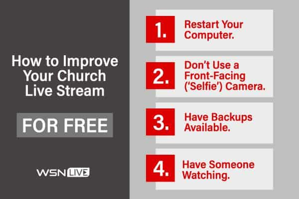 improve live stream for free