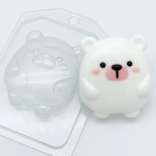 Мишка мультяшный, форма пластиковая