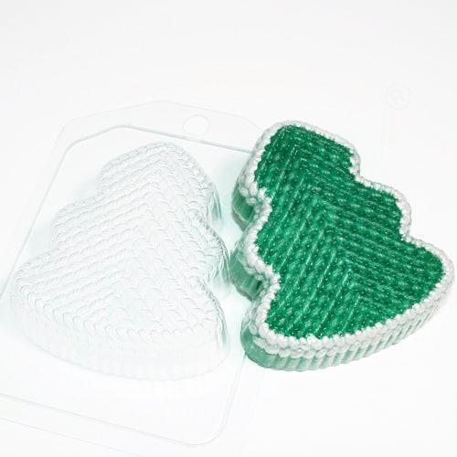 Елка вязаная, форма пластиковая