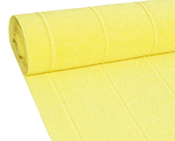 Бумага гофрированная простая желтая 574