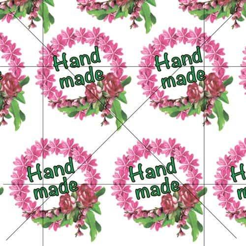 Наклейки Венок 2 Hand made