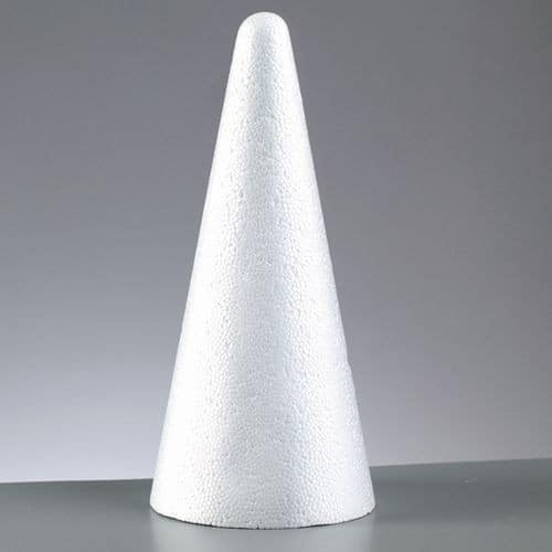 Конус из пенопласта, 9х9х20 см