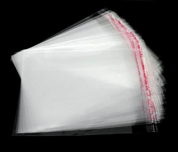 Пакетики 12,5х16,5+4 см с липким слоем
