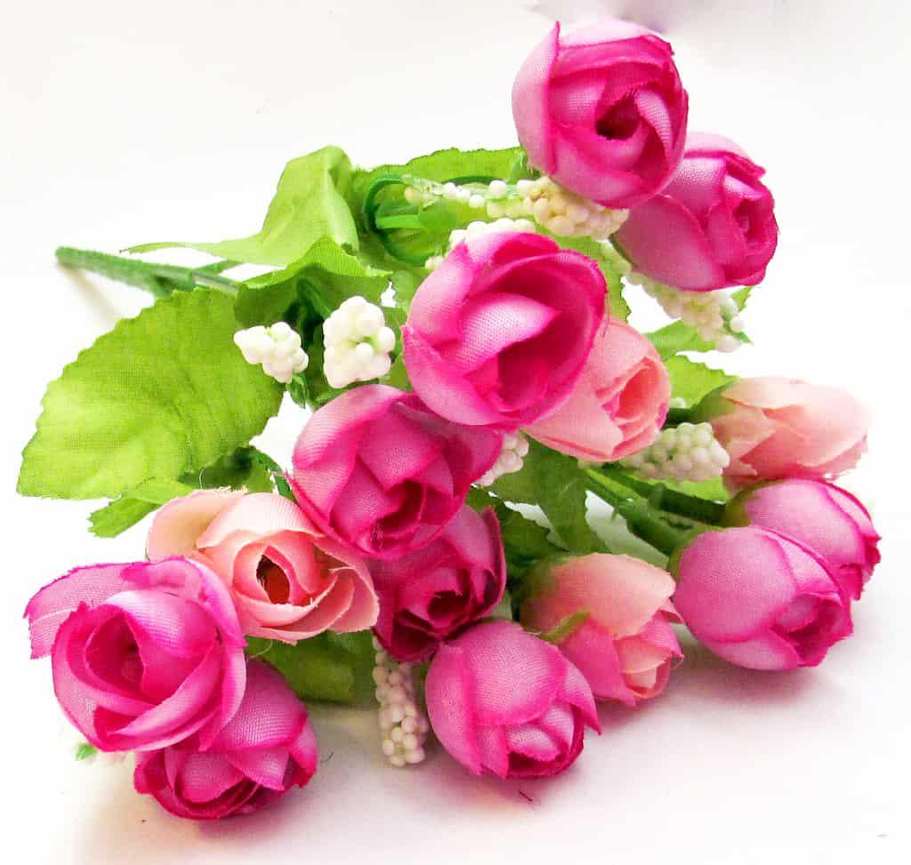 "Букет ""Мелкие розочки"" розово-сиреневые"